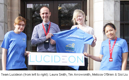 Team Lucideon (from left to right): Laura Smith, Tim Arrowsmith, Melissa O'Brien & Sisi Liu
